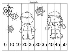 I hope you find this free WINTER skip counting coloring puzzle to be fun and useful! Directions:Students simply color the picture, cut out the puzzle strips, and glue back in numerical order on construction paper according to the skip counting pattern. Counting In 5s, Counting Puzzles, 1st Grade Math, Kindergarten Activities, Tissue Paper Crafts, Felt Crafts, Math Sheets, Color Puzzle, Animal Crafts For Kids