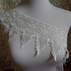 1 yard Venise feather lace trim in white for wedding, sashes, gown shoulder, headbands, costumes by FabricTrims on Etsy https://www.etsy.com/listing/196215842/1-yard-venise-feather-lace-trim-in-white