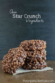 Clean Version Star Crunch (Only 6 Ingredients), #vegan #glutenfree #realfood - The Organic Dietitian