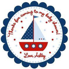 Nautical Ahoy It's a Boy Baby Shower Favor Tag von Baby Shower Invitations For Boys, Baby Shower Favors, Baby Shower Parties, Baby Boy Shower, Baby Showers, Nautical Favors, Nautical Baby, Nautical Theme, Nautical Design