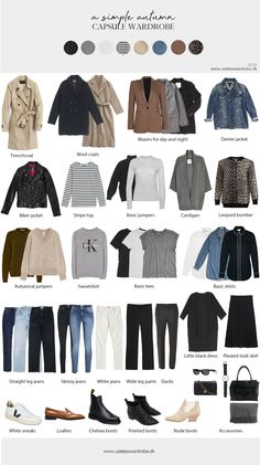 A simple autumn capsule wardrobe. A simple autumn capsule wardrobe.,Mode Herbst A simple autumn capsule wardrobe. Related posts:Sophisticated Style Classic style womenClassical Work Outfit For Winter Classic style womenFloris Van Bommel Business Schuhe Capsule Outfits, Fall Capsule Wardrobe, Fashion Capsule, Wardrobe Basics, Mode Outfits, Work Wardrobe, Fashion Outfits, Simple Wardrobe, Minimalist Wardrobe Essentials