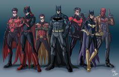 nightwing and batgirl | ... Nightwing (Dick Grayson), Batgirl (Barbara Gordon) et Red Hood (Jason