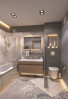 Below is a list of Lighting in Bathrooms that I think are not only fancy but surely awesome! They both are functional since they surely give light to the spaces and they also create a wonderful and…More #BathroomIdeas