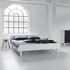 If you're in need of some major relaxation, look no further than the Twist's lush double futon bed. Place the Twist bed in your room for a grea. Simple Furniture, Colorful Furniture, Bed Furniture, Beds Uk, Futon Sofa, Bed Base, Blue Bedding, Panel Bed, Double Beds
