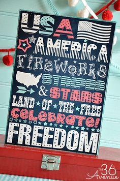 10 Free 4th of July Printables | www.dawnnicoledesigns.com