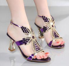 Magda zapatos sandalias con pedrería y tacones Pj191dKi