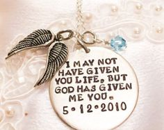 Hand Stamped Step Daughter Necklace Wedding Gift For Birthday