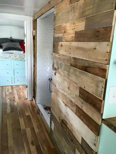 Sliding Bathroom Door                                                                                                                                                                                 Mo (Camping Hacks Shower) Diy Rv, Save Your Money, Save Yourself, Home Remodeling, Tiny House, House Remodeling, Tiny Houses, Home Repair