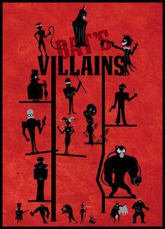 Batman Villains - Art Print