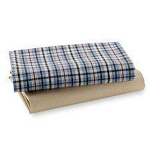 "Bacati Boys Stripes and Plaids 2 Pack Crib Sheets - Bacati - Babies ""R"" Us"