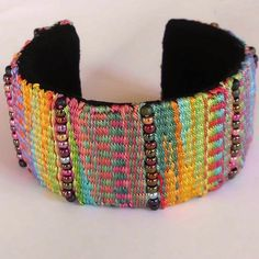 Projects on Craftsy: Beaded Tapestry Cuff Bracelet from sibel62