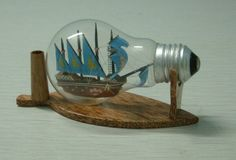 A ship in a light bulb...clever
