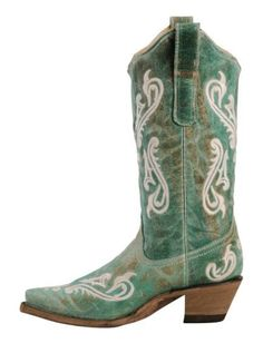✰ Corral Cortez Fleur-De-Lis Turquoise Cowgirl ...
