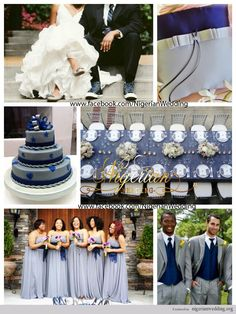 nigerian wedding navy blue and grey wedding color scheme