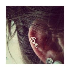 cartilage piercing | Tumblr ❤ liked on Polyvore
