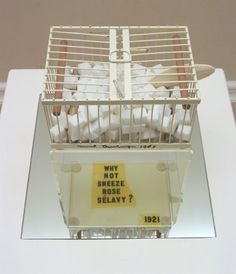 Marcel Duchamp 'Why Not Sneeze Rose Sélavy?', replica 1964 © Succession Marcel Duchamp/ADAGP, Paris and DACS, London 2016 Analysis to shed some light. Magritte, Conceptual Art, Surreal Art, Fungi, Art Terms, Chess Players, Willem De Kooning, Helen Frankenthaler, Pin Up Art