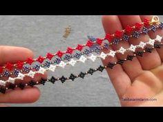 Paper Beads Tutorial, Beaded Bracelets Tutorial, Fusion Beads, Beaded Jewelry Patterns, Bracelet Patterns, Handmade Beads, Handmade Jewelry, Handmade Bracelets, Wire Jewelry