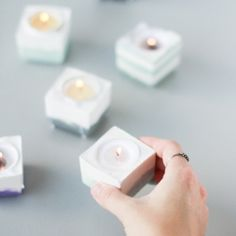 Make these modern DIY candle votives from scratch, to use around your home or as a gift for Mother's Day, a housewarming party, or wedding.