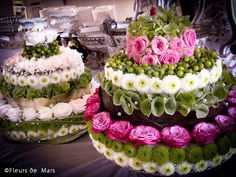 Flower cakes by Marcelline Plus