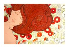 """""Lady Orange"", ""Dama Arancio"""" by cinzia mazzoni on #INPRNT - #fine art #print #poster #art"