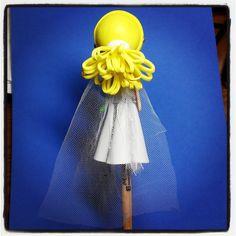 #Fofulápiz #personalizado - #Novia para #tarta #nupcial