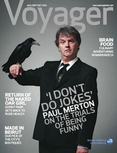 British comedian Paul Merton covers this month's Voyager magazine.