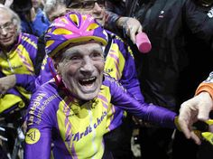 """I am not here to be champion. I am here to prove that at 105 years old you can still ride a bike,"" Frenchman Robert Marchand said."
