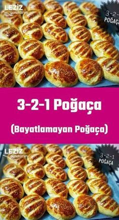 Pastry (Non-Stale Pastry)- Poğaça (Bayatlamayan Poğaça) P… Yummy Recipes, Dinner Recipes, Healthy Recipes, Beignets, Good Food, Yummy Food, Tasty, Turkish Kitchen, Pastry Recipes