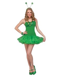 e47ca6a96eebd Green Petticoat Adult Womens Dress at www.SpiritHalloween.com - Twirl  around this St