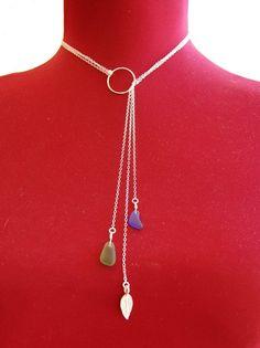 Collar Lariat de multi-hilo mar cristal por ohanabylea en Etsy