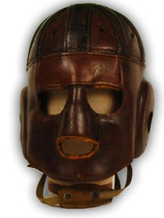 Leather football helmet http://www.mearsonline.com/news/bseh1.JPG