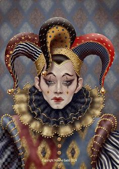 Maxine Gadd published fairy and fantasy artist. Exceptional digital illustrations and mystical beings Fantasy Kunst, Fantasy Art, Beste Gif, Art Du Cirque, Steampunk Kunst, Jester Costume, Court Jester, Send In The Clowns, Photo D Art