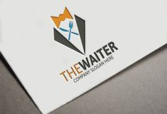 The Waiter Logo by Josuf Media on @creativemarket