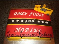 Only Fools And Horses Cake Only Fools And Horses, Dad Birthday Cakes, Horse Cake, The Fool, Drink Sleeves, Things To Do, Bakery, Cool Stuff, Things To Make