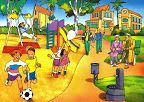 TOUCH this image to discover its story. Image tagging powered by ThingLink Picture Comprehension, Teaching English Grammar, Spanish Grammar, Grammar Lessons, Picture Composition, Vocabulary Practice, Action Verbs, Picture Writing Prompts, Art Drawings For Kids