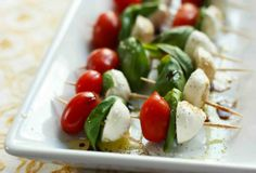 Caprese Skewers-Ranking the best wedding passed appetizers