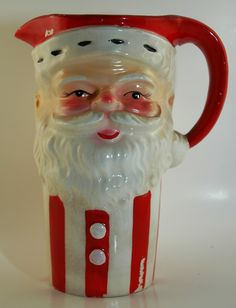 Vintage Santa Christmas Pitcher