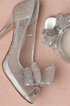 Anyone else think these look like Cinderella's glass slippers?  Mercury Peep-Toes from BHLDN