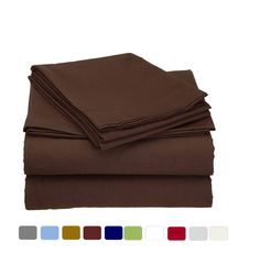 COTTINGOS 100% Cotton Sheet Set - 400 TC Sateen Finish Sheets Cool, Lightweight Soft & Breathable 4 Pieces Bedding Sheets, Chocolate Solid | King Size Sheets, Fits up to 15 Inches Deep Pocket. 100 Cotton Sheets, Cotton Sheet Sets, King Size Bed Sheets, Bedding, It Is Finished, Deep, Pocket, Chocolate, Cool Stuff