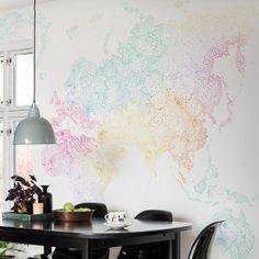 sandberg world map multi colored