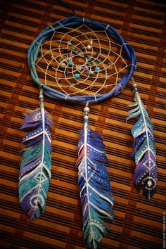 "Hunters handmade dreams. ""Water Magician"" Dreamcatcher. Diana Moskalenko (Magic Shop). Arts and crafts fair. dreams Traps"