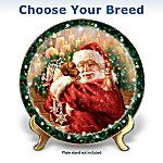 A Christmas Wish Come True Dog Collector Plate. Wouldn't your furry little friend make the perfect holiday stocking stuffer? Now a charming Santa and dog Christmas collector plate, available exclusively from The Bradford Exchange, grants your Christmas wish. This fine porcelain collector plate will feature your choice of a charming Dachshund or Shih Tzu dog portrait in delightful Christmas art by Dona Gelsinger. This endearing Santa and dog Christmas collector plate is the perfect canvas to…
