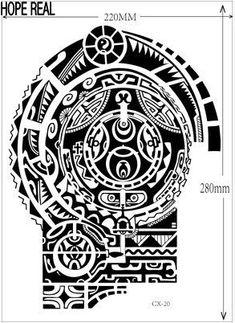 1lot=1pcs arm +1pcs chest waterproof tattoo stickers cx-20 21 prothorax twinset big 3d tatoo stickers men #samoantattooswomen
