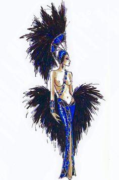 Bob Mackie Sapphire showgirl - Jubilee