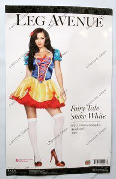 Sexy Snow White Princess Adult Halloween Costume NEW