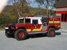 HUMMER H1 fire truck