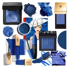 """Blue Contest"" by mrs-rc ❤ liked on Polyvore featuring beauty, NARS Cosmetics, Yves Saint Laurent, Revlon, Lime Crime, MAKE UP FOR EVER and OPI"