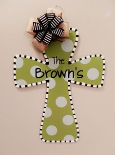 Wooden Cross Door Hanger $35.00