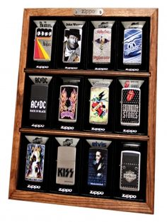 What better way to show your Zippo lighter collection off than a Zippo display case?