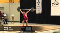Claudie Vaillancourt - 2016-02-20 Championnat Juvénile d'haltérophilie du Québec Première position